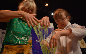 Scientific Sue and Emma Daly, a second class pupil from Tuamgraney National School pictured at the launch of Science Week at MIC