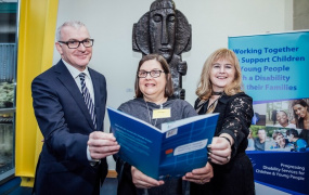 Prof. Gary O'Brien, Dr Anne O'Byrne & Prof. Emer Ring, MIC at Progressing Disability Services for Children and Young People (PDS) Conference 2019