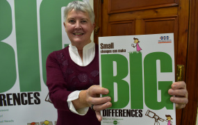 Dr Patricia Daly, former Head of the Department of Educational Psychology, Inclusive & Special Education (EPISE) at Mary Immaculate College (MIC), launching her new book 'Small Changes Can Make Big Differences'