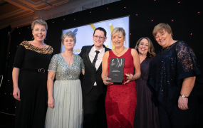 Members of the LINC consortium pictured at the Education Awards 2020