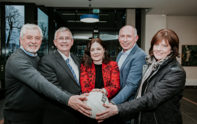 Denis Kenneally, Jerome Casey, Professor Niamh Hourigan, Dr Richard Bowles & Mary Kenneally pictured at the launch of the Rachel Kenneally Memorial Award