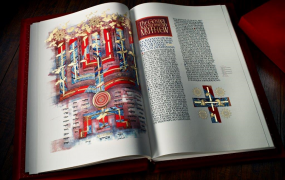 The Saint John's Bible on display at Mary Immaculate College