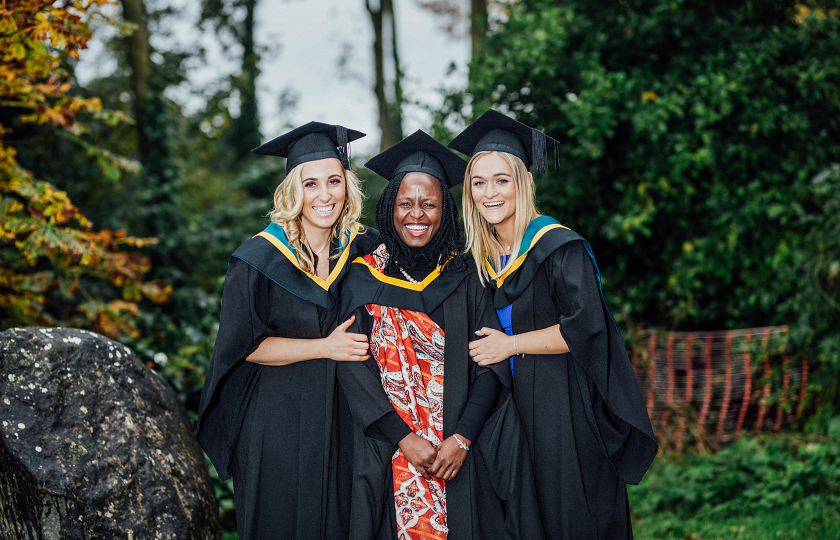 Mary Kehoe from Cushinstown, Co Wexford, Bachelor of Education (Primary Teaching), Jidah Judith Kisembo from Uganda, Masters of Education (Irish Aid Scholar) and Meabh Mulcahy from Ballynoe, Co Cork, Bachelor of Education (Primary Teaching) pictured at the MIC Graduation 2019