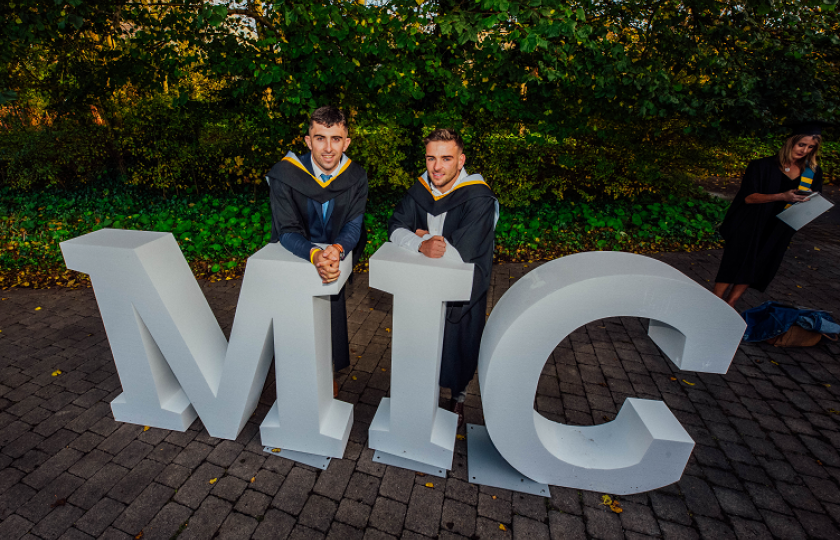 Aaron Gillane of Patrickswell, Co Limerick and Michael Burns of Killarney, Co Kerry pictured at the MIC Graduation 2019