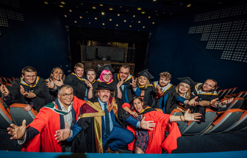 The first graduates from the BA in Contemporary and Applied Theatre Studies