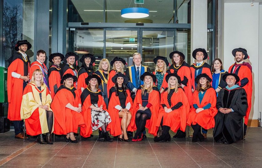 2019 PhD graduates from Mary Immaculate College with President, Deans & Head of Graduate School
