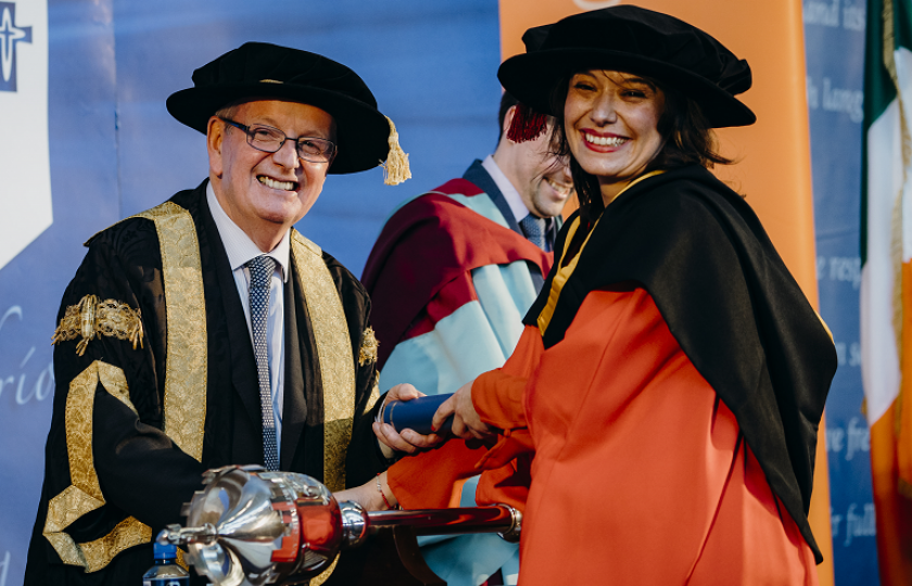 Dr Mariangela Esposito, originally from Italy now living in Limerick, pictured with Dr Des Fitzgerald, President of University of Limerick