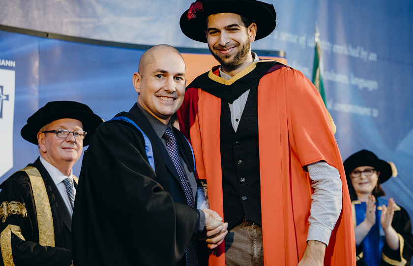 Dr Lorenzo Girardi from the Netherlands pictured with his supervisor, Dr Basil Vassilicos
