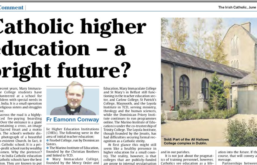 Catholic Education: A bright future?