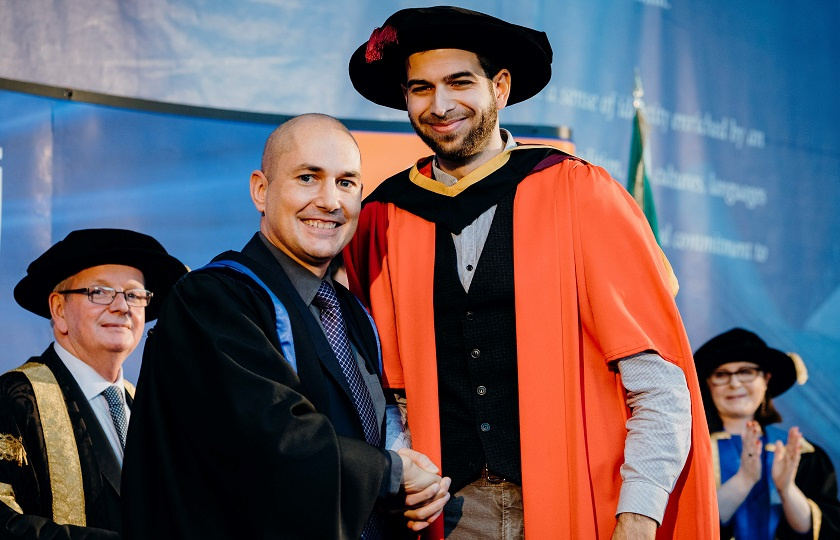 Lorenzo Girardi, Dept. of Philosophy who was awarded a PhD with Research Supervisor, Dr Basil Vassilicos, MIC
