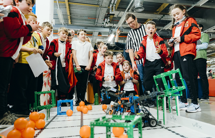 Primary school children from schools in Limerick, Waterford, Cork & Tipperary compete at the regional finals of the Vex Robotics Challenge