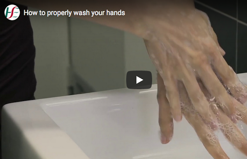 HSE Advice on Handwashing