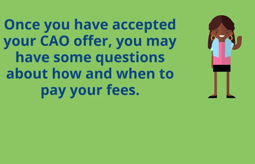 A video explaining that the video has answers to some questions you may have about fees