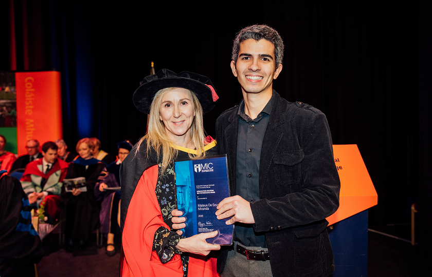 Mateus Miranda pictured with his supervisor Dr Anne O'Keeffe