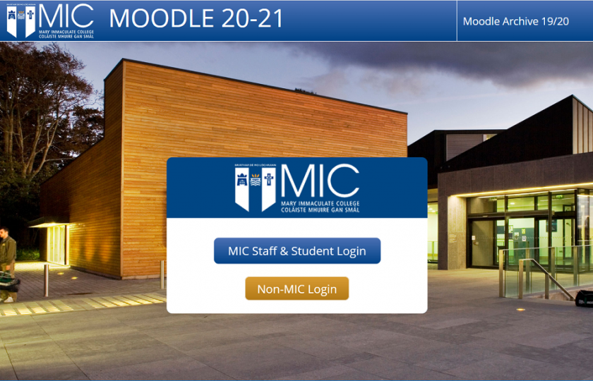 Mary Immaculate College Moodle LEAD MIC