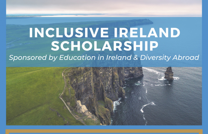 Inclusive Ireland Scholarship - application date extended to April 15th