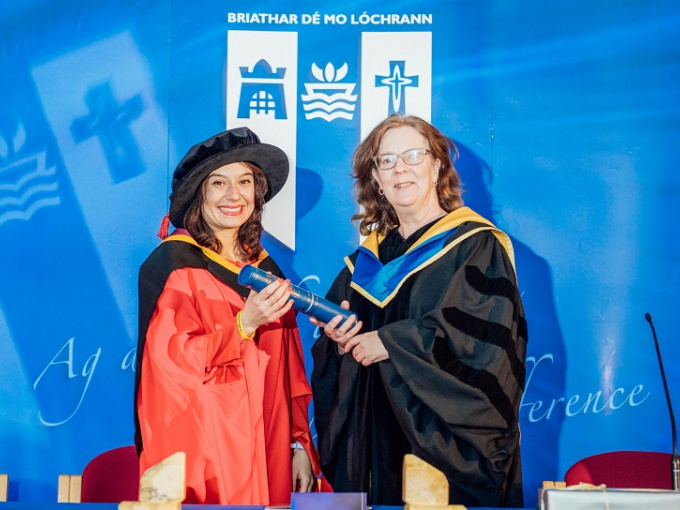 Mariangela Esposito, Dept. of Philosophy, PhD with Research Supervisor Dr Catherine Kavanagh, MIC