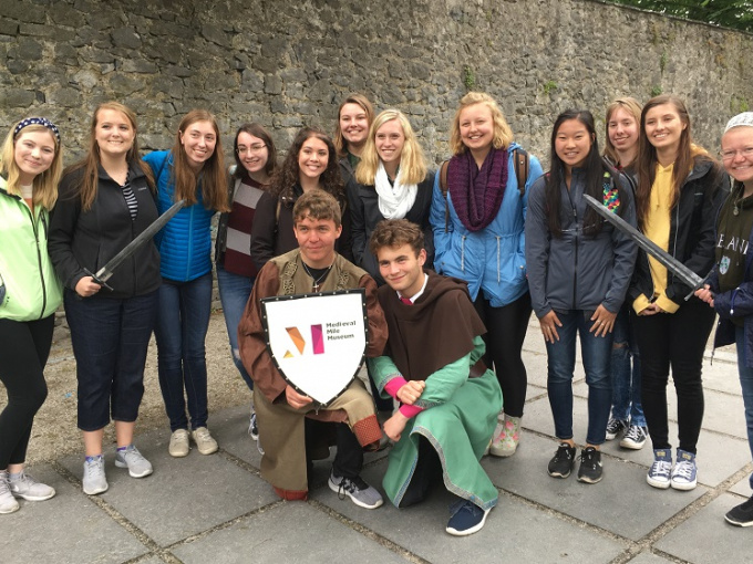Visiting international students to MIC from St Norbert's College on a trip to Kilkenny